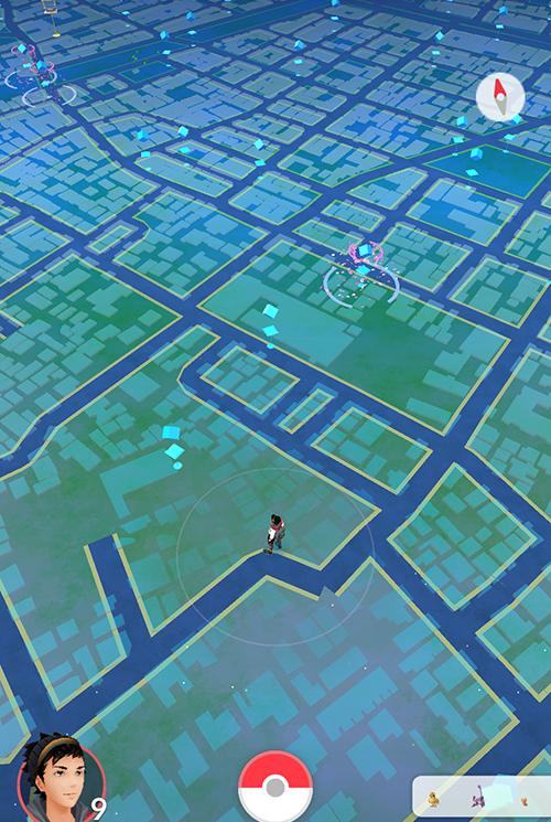 ポケモンGO 地図の視点切り替え